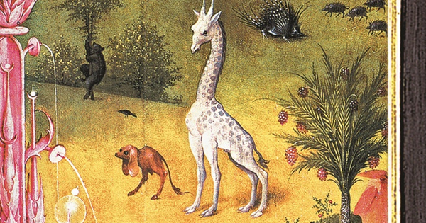 A giraffe from Hieronymous Bosch's Garden of Earthly Delights