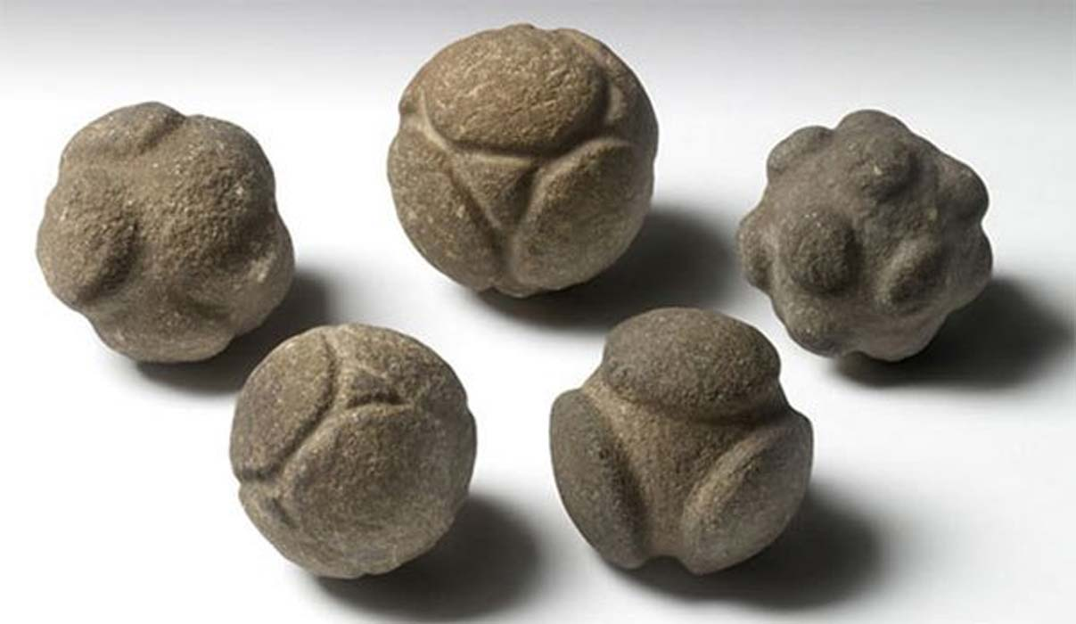 Some of those puzzling stone spheres from Scotland