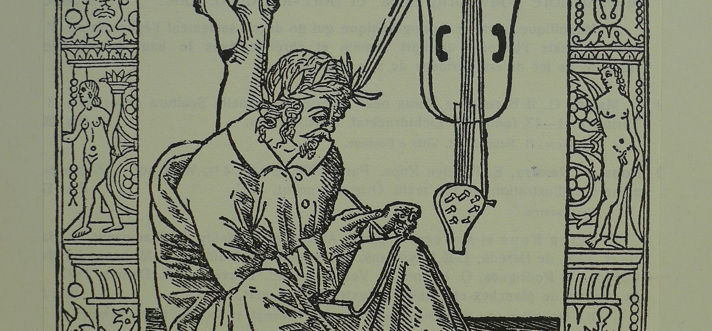 Detail of Plutarch hanging out with his lute-thing, Lorenzo Rossi 1501.
