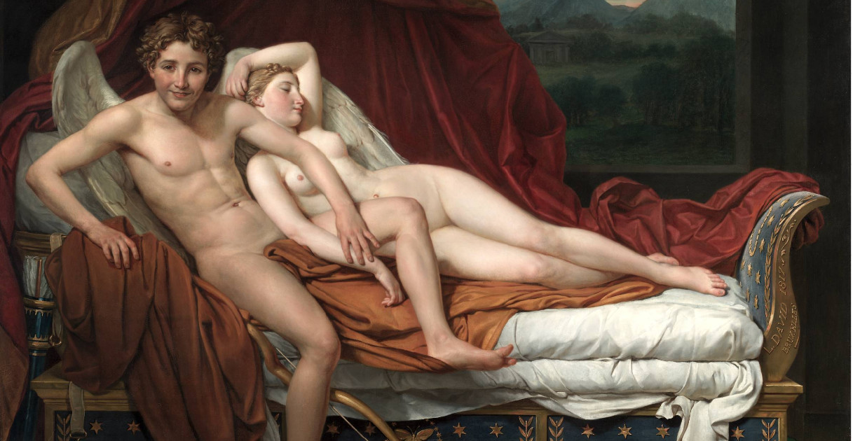 Cupid and Psyche, Jacques-Louis David 1817, Cleveland Museum of Art
