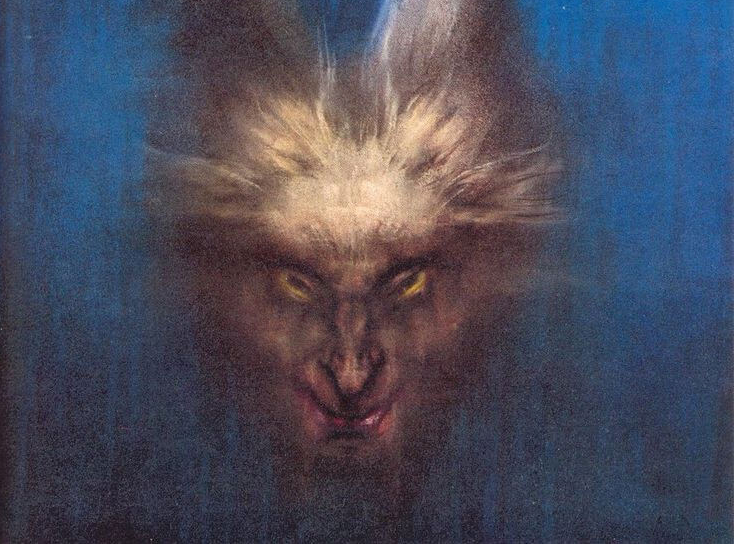 Austin Osman Spare, 'The Vampires are Coming', pastel, detail, c. 1953.