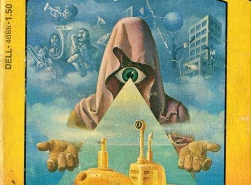 Cover image from Illuminatus! Vol. I, 1974, detail.