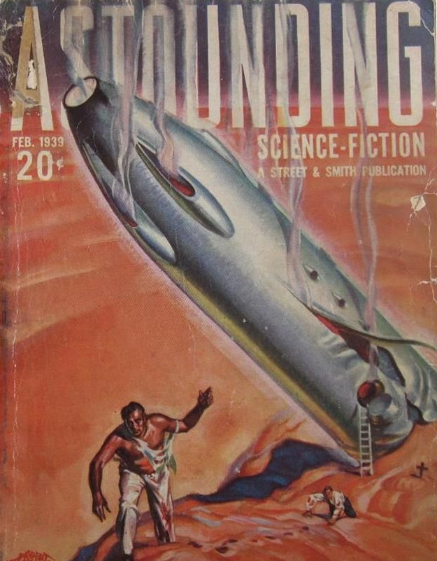 Astounding Science Fiction, Feb. 1939, featuring Jack Williamson's 'Crucible of Power'. Talk about magickal symbolism!
