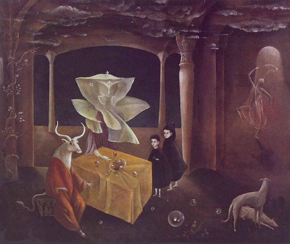 Leonora Carrington, And Then We Saw the Daughter of the Minotaur!, 1953